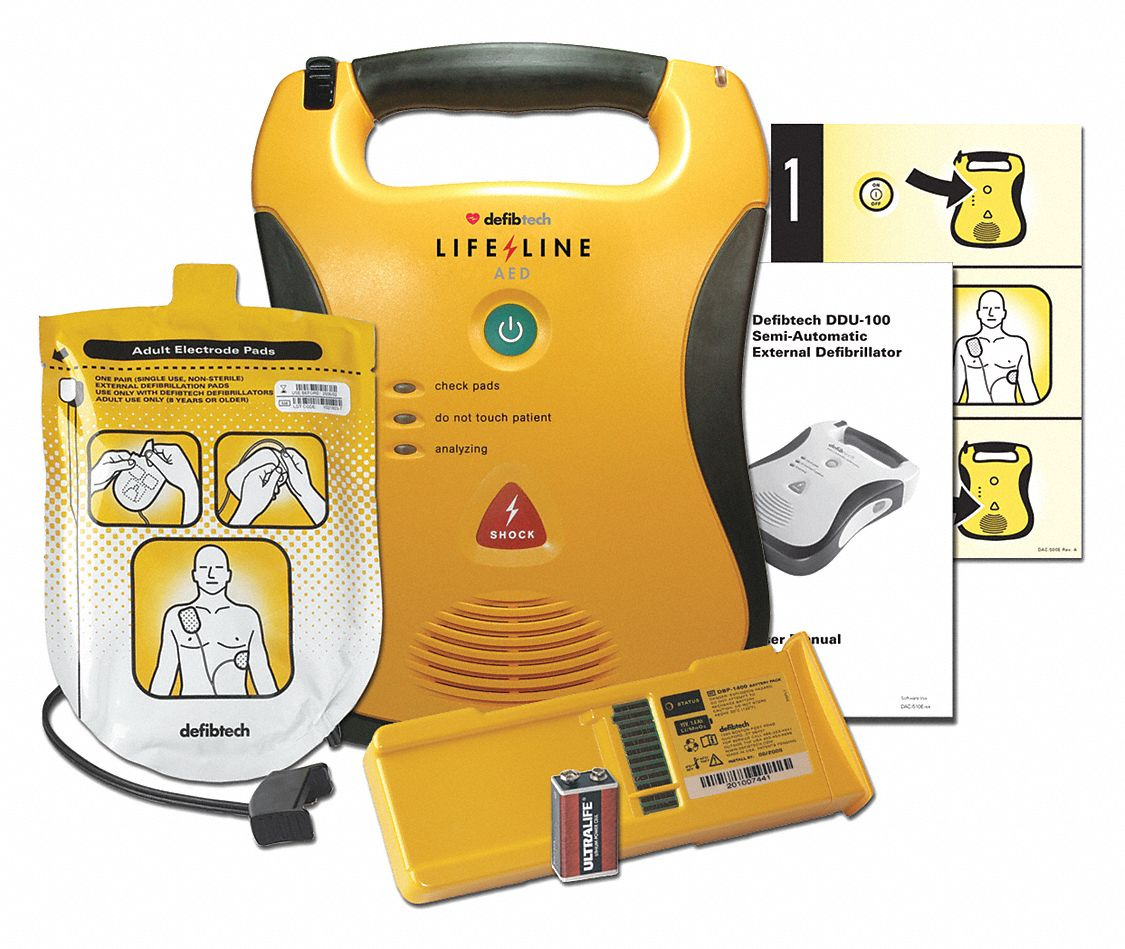 Semi-Automatic Lifeline High Capacity AED with 1 yr. Mgmt. Program, AHA Compliant