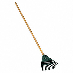 Shrub Rake,Polypropylene,42 in.,Straight