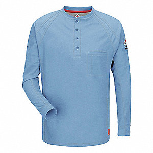 FR Polo Shirt,Bl,3XL,Long,Button