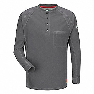 "Charcoal Flame-Resistant Polo Shirt, Size: 2XL, Fits Chest Size: 49-1/2"" to 54"", 8.2 cal./cm2 ATPV R"
