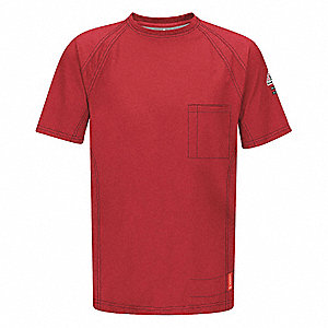 "Red Flame-Resistant Polo Shirt, Size: L, Fits Chest Size: 41"" to 45"", 8.2 cal./cm2 ATPV Rating"