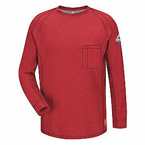 "Red Flame-Resistant Polo Shirt, Size: XL, Fits Chest Size: 45"" to 49-1/2"", 8.2 cal./cm2 ATPV Rating"