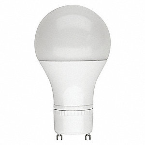 9.0 Watts LED Lamp, A19, 2-Pin (GU24), 800 Lumens, 4000K Bulb Color Temp., 1 EA