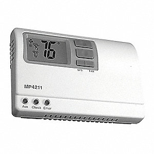 Thermostat,Non Programmable,Stage Heat 2