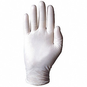 "9-1/2"" Powdered Unlined Vinyl Disposable Gloves, Clear, Size  M, 100PK"