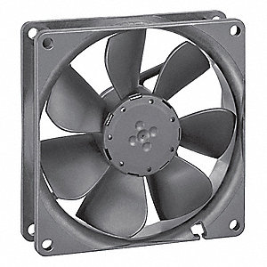 "Square Axial Fan, 3-5/8"" Width, 3-5/8"" Height, 24VDC Voltage"