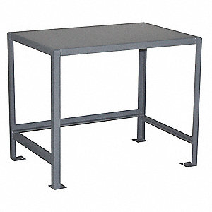 Jamco fixed work table steel 30 w 18 d 32mz14 ur130 for Table th fixed width