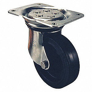 "8"" Medium-Duty Kingpinless Swivel Plate Caster, 1175 lb. Load Rating"