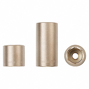 "6mm Aluminum Bronze Socket with 1/4"" Drive Size and Natural Finish"