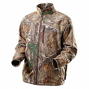 Heated Jacket,M,Men's,Camo