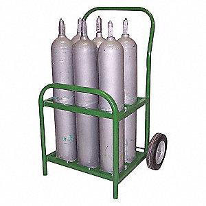 "Cylinder Cart,250 lbs.,21""x18-1/4""x35"""