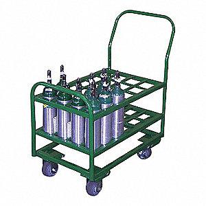 "Cylinder Cart,2400lb,17-1/2""x27-1/4""x38"""