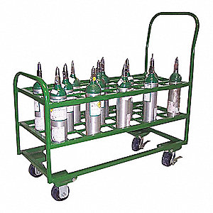 "Cylinder Cart,2400lb,17-3/4""x38-3/4""x38"""