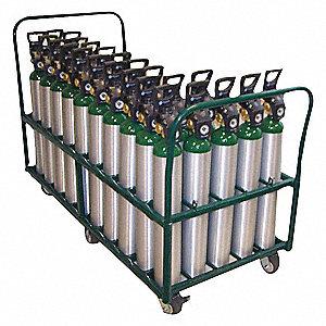 "Cylinder Cart,2,400 lbs.,55""x57-1/4""x38"""