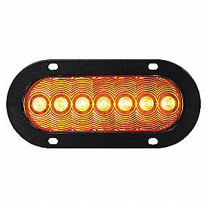 LAMP 7 LED TURN SIGNAL OVAL AMB