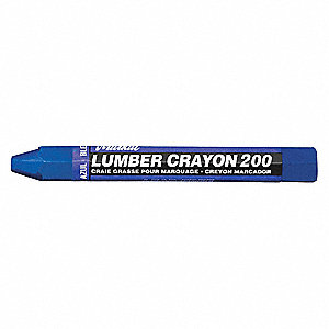 Lumber Crayon, Blues Color Family, Hex Tip Shape, -20°F Min. Temp., 12 PK