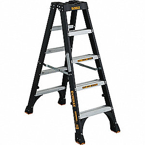 5 ft. 300 lb. Load Capacity Fiberglass Twin Stepladder