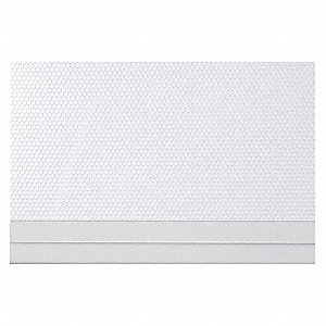 "48"" x 84"" Polyester/Aluminum Embossed Shades with 99.9% Light Blockage, White"