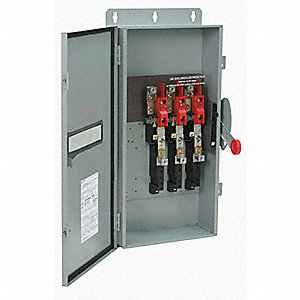 Safety Switch, 1 NEMA Enclosure Type, 200 Amps AC, 125 HP @ 480VAC HP