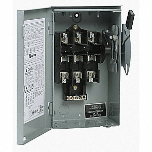 Safety Switch,240VAC,3PST,30 Amps AC