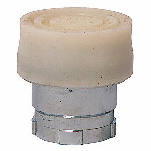 Push Button,22.5mm,Booted,Zinc,White