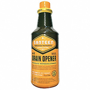 Drain Opener, 1 qt. Bottle, Sulfur Liquid, Ready to Use, 12 PK