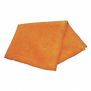 "Medium Duty Microfiber Cloth, Orange, 12"" x 12"", 12 PK"