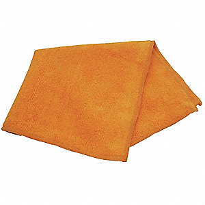 "Orange Microfiber Towel, 12"" x 12"", 12 PK"