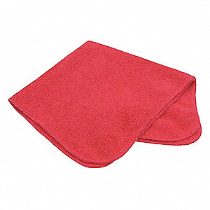 "Medium Duty Microfiber Cloth, Pink, 16"" x 16"", 12 PK"