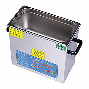 Ultrasonic Cleaner, Medium Type, Tank Capacity: 0.8 gal. / 3000mL, Timer Range: 1 to 99 min.