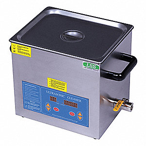Ultrasonic Cleaner, Large Type, Tank Capacity: 3.12 gal., Timer Range: 1 to 99 min.