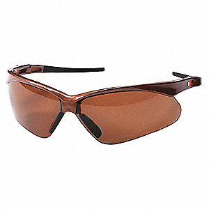 Scratch-Resistant Polarized Safety Eyewear, Brown Lens Color