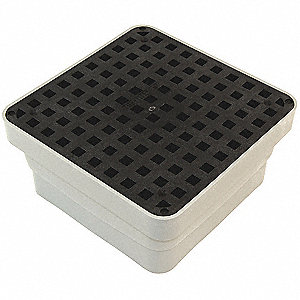 Area Drain,11x11 In,ADA Grate,Black