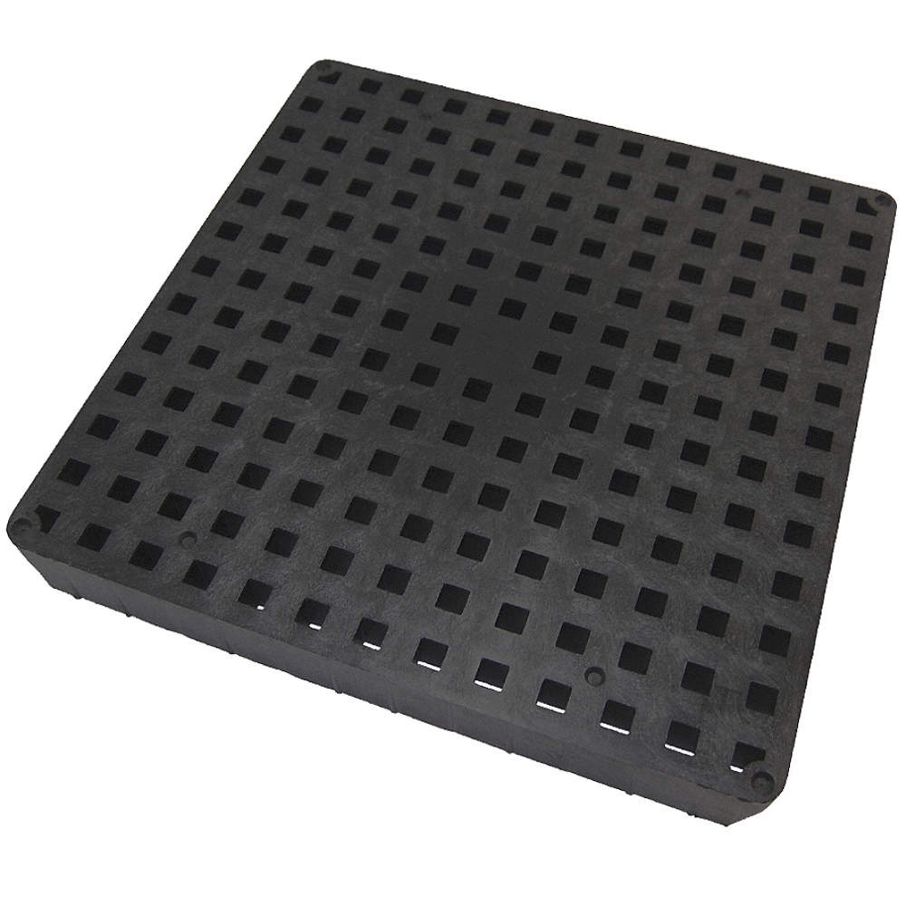 TUFTITE Plastic Black Grate Pipe Dia Drop In Connection Drains - Rubber grate flooring