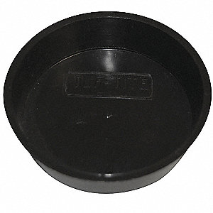 Solid Pipe Plug,Plastic,Black