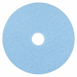 "19"" Light Blue Burnishing Pad, Non-Woven Polyester Fiber, Package Quantity 5"