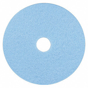 Burnishing Pad,20 In,Sky Blue,PK5