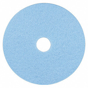 "27"" Non-Woven Polyester Fiber Round Burnishing Pad, 1500 to 3000 rpm, Light Blue, 5 PK"