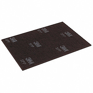 "14"" x 20"" Non-Woven Rectangular Stripping Pad, 175 to 600 rpm, Maroon, 10 PK"