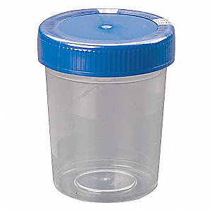 100mL Specimen Container, Wide Mouth, Polypropylene, PK 280