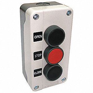 Push Button Control Station, 2NO/1NC Contact Form, Number of Operators: 3