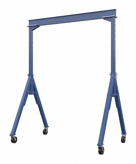 Adjustable Gantry Crane,  4,000 lb Load Capacity,  4.0 in I Beam Flange Width