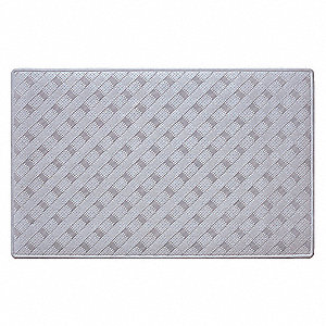 "13-1/2"" x 21-1/2"" Rubber Shower and Bath Mat with Suction Backing, White; PK4"