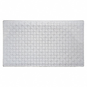 "15-1/2"" x 27-1/2"" Rubber Shower and Bath Mat with Suction Backing, White; PK4"