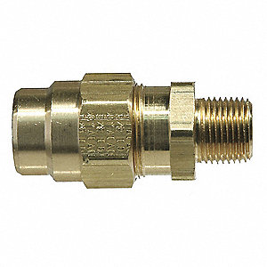 Hose Connector,225psi,1/2Pipe,Brass