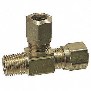 Male Run Tee, 150psi, Brass