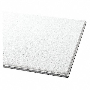 "Ceiling Tile, 24"" Width, 60"" Length, 3/4"" Thickness, Mineral Fiber"