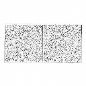 "Ceiling Tile,24"" W,48"" L,3/4"" Thick,PK8"