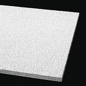 "Ceiling Tile,24"" W,48"" L,5/8"" Thick,PK8"