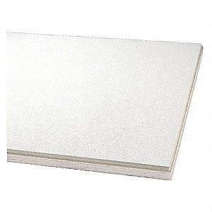 "Ceiling Tile,24"" W,48"" L,1"" Thick,PK12"